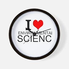 I Love Environmental Science Wall Clock