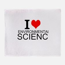 I Love Environmental Science Throw Blanket