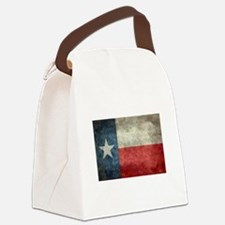 Texas state flag vintage retro st Canvas Lunch Bag