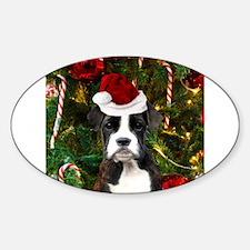 Christmas Boxer Dog Decal