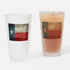 Texas state flag vintage retro styl Drinking Glass