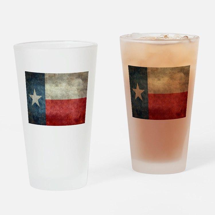 Texas state flag vintage retro styl Drinking Glass