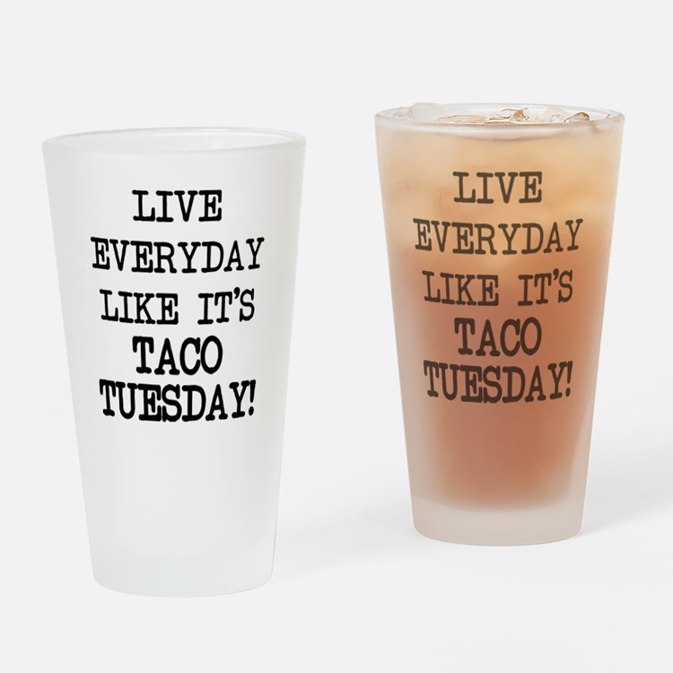 Cute Taco Drinking Glass
