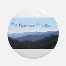 Mountains Calling Round Ornament