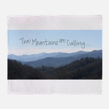 Mountains Calling Throw Blanket