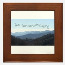 Mountains Calling Framed Tile