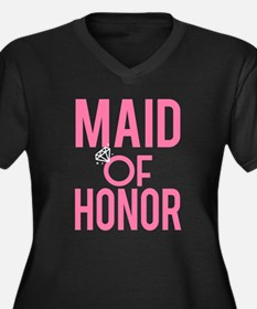Maid of Honor funny pink wedding Plus Size T-Shirt