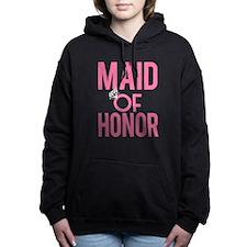 Maid of Honor funny pink Women's Hooded Sweatshirt