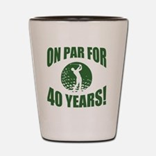 Golfer's 40th Birthday Shot Glass
