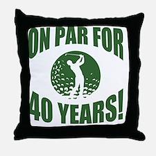 Golfer's 40th Birthday Throw Pillow