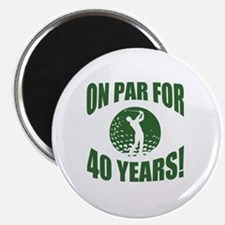 Golfer's 40th Birthday Magnet