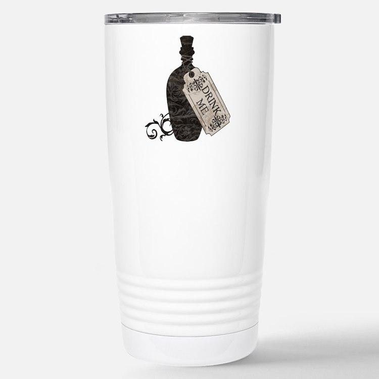 Cute Alice in wonderland drink me Travel Mug