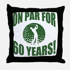 Golfer's 60th Birthday Throw Pillow