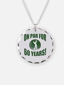Golfer's 60th Birthday Necklace