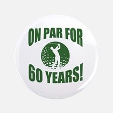 Golfer's 60th Birthday Button