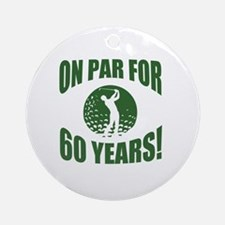 Golfer's 60th Birthday Round Ornament