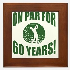 Golfer's 60th Birthday Framed Tile