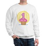 1st Birthday Cupcake Sweatshirt