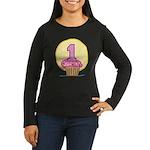1st Birthday Cupcake Women's Long Sleeve Dark T-Sh