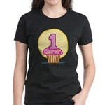 1st Birthday Cupcake Women's Dark T-Shirt