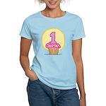1st Birthday Cupcake Women's Light T-Shirt