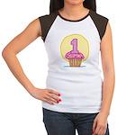 1st Birthday Cupcake Women's Cap Sleeve T-Shirt