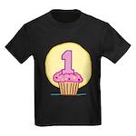 1st Birthday Cupcake Kids Dark T-Shirt
