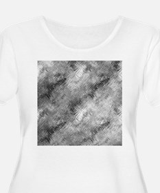 Grey Glass Pattern Plus Size T-Shirt