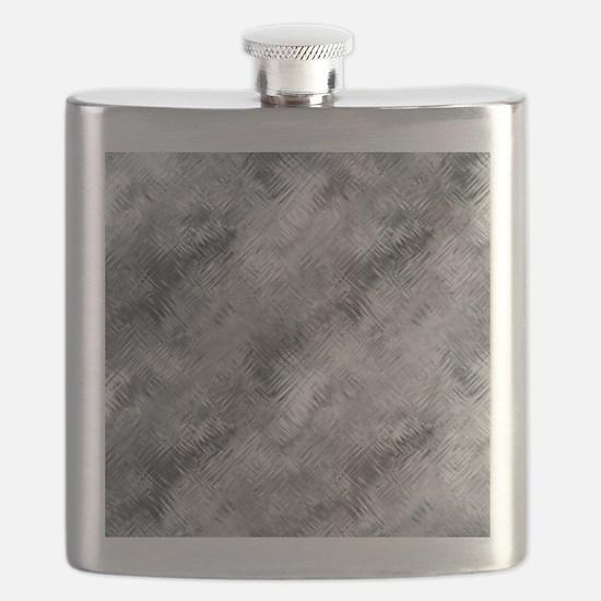 Grey Glass Pattern Flask