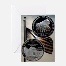Women in the Military Silver Dollar Greeting Card