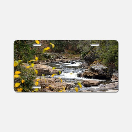 Cute Blackwater falls Aluminum License Plate