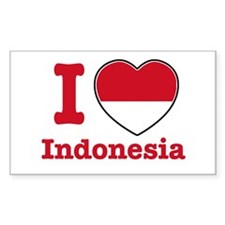I love Indonesia Rectangle Decal