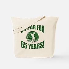Golfer's 65th Birthday Tote Bag
