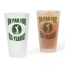 Golfer's 65th Birthday Drinking Glass