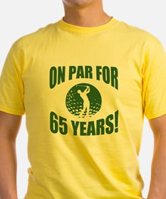 Golfer's 65th Birthday T