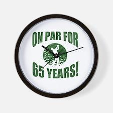 Golfer's 65th Birthday Wall Clock