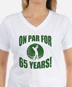 Golfer's 65th Birthday Shirt