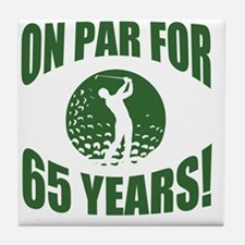 Golfer's 65th Birthday Tile Coaster