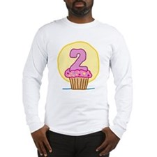 2nd Birthday Cupcake Long Sleeve T-Shirt