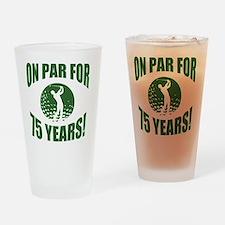 Golfer's 75th Birthday Drinking Glass