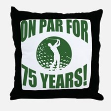 Golfer's 75th Birthday Throw Pillow