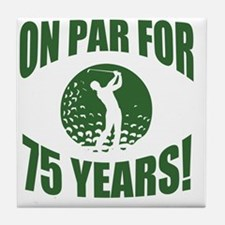 Golfer's 75th Birthday Tile Coaster