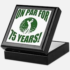 Golfer's 75th Birthday Keepsake Box