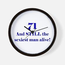 71 Still Sexiest 1C Blue Wall Clock