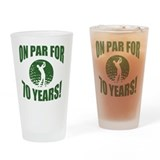 70th birthday golf Pint Glasses