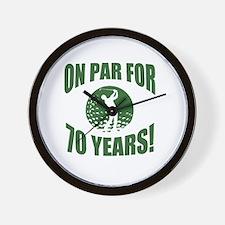 Golfer's 70th Birthday Wall Clock