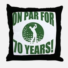 Golfer's 70th Birthday Throw Pillow