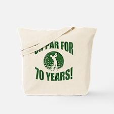 Golfer's 70th Birthday Tote Bag