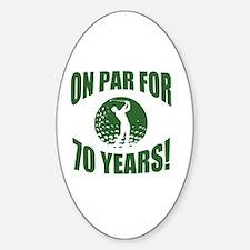 Golfer's 70th Birthday Decal