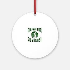 Golfer's 70th Birthday Round Ornament